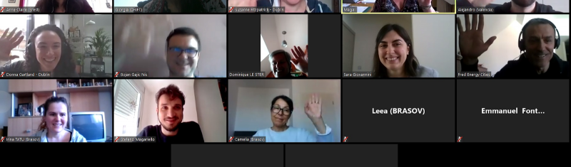 A snapshot from TOMORROW's online meeting